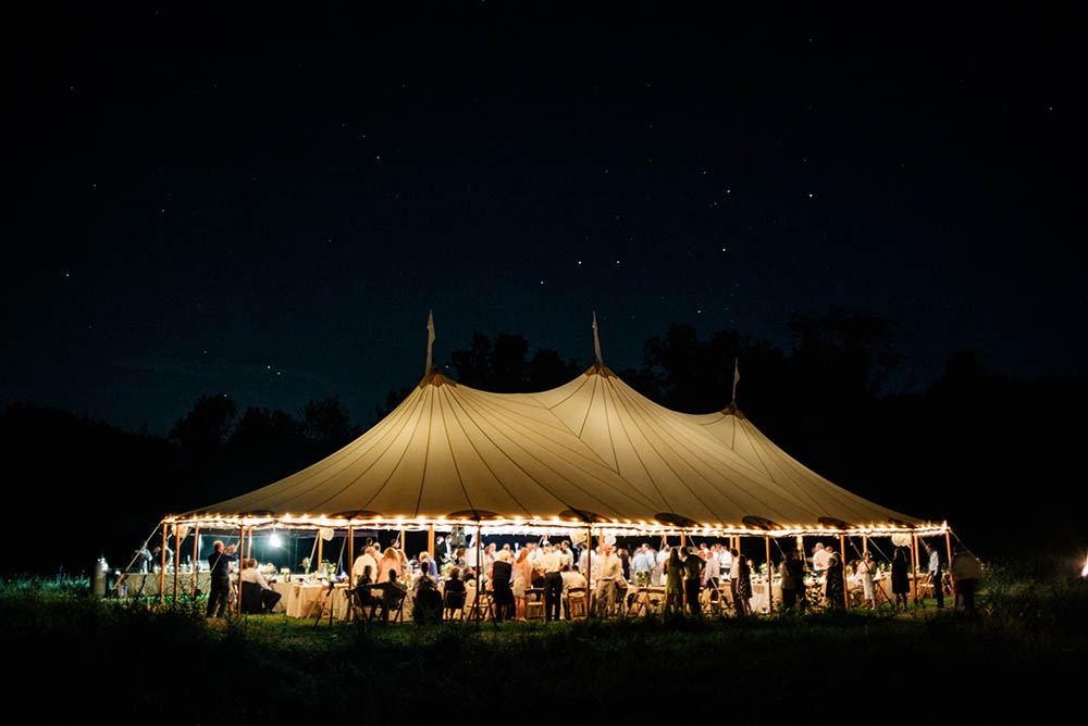 Wedding Tent Under the Stars